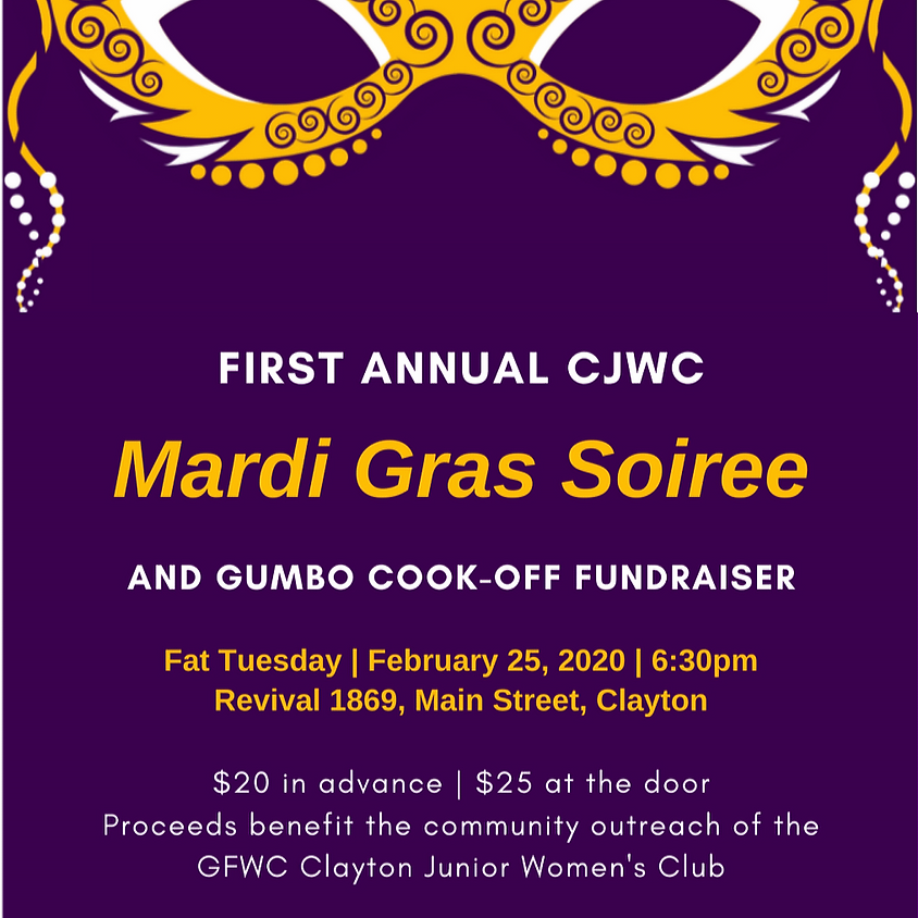 Mardi Gras Soiree and Gumbo Cook-off Fundraiser