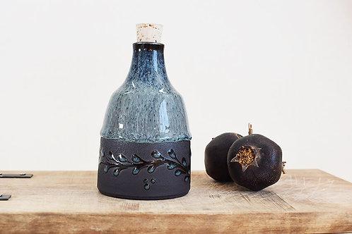 בקבוק כחול ושחור לשמן זית