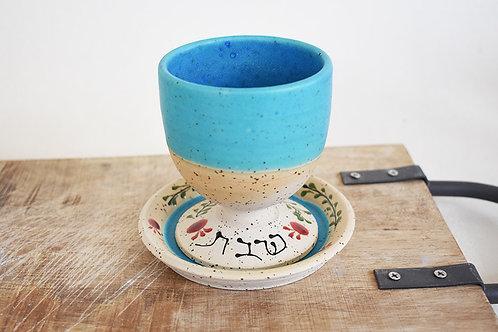 כוס לקידוש בצבע טורקיז