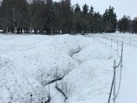 Snowy Trenches at Beaumont-Hamel