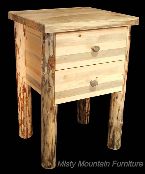Mountain Hewn 2 Drawer Nightstand