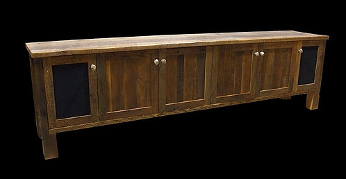 Reclaimed Barn Wood Flat Screen TV Entertainment Center with Speaker Cabinets
