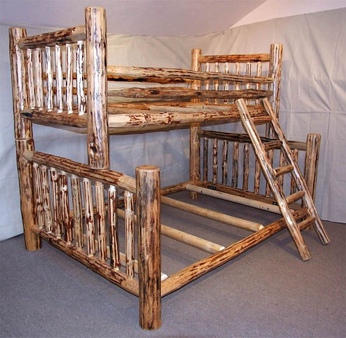 Mountain Hewn Traditional Log Bunkbed