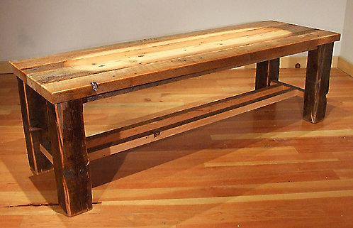 Rustic Heritage Cross Cut Bench