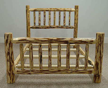 Mountain Hewn Straight Log Bed