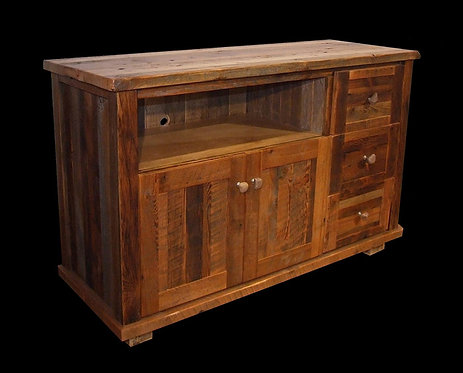 Rustic Heritage 3 Drawer Flat Screen Cabinet