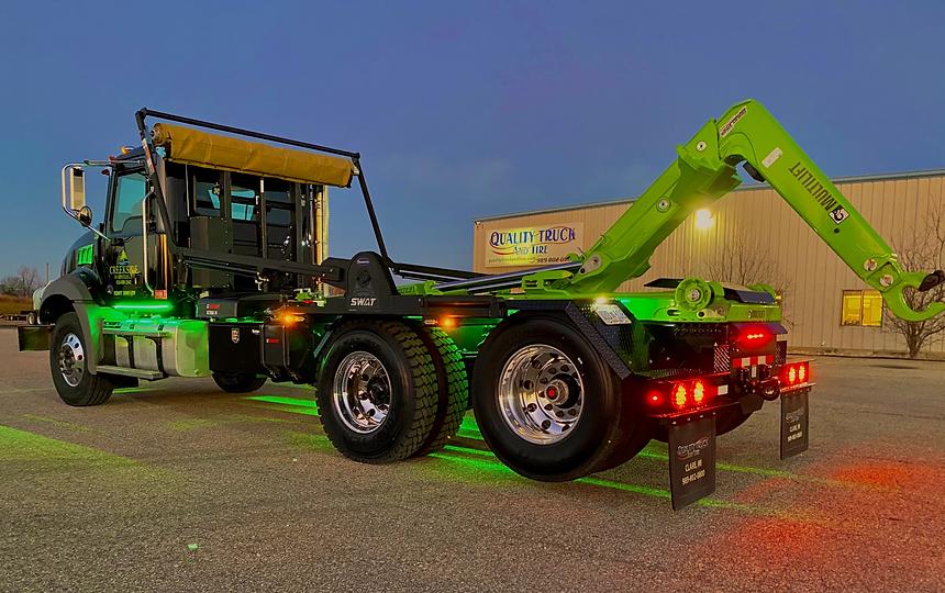 Green & Black Custom Built MultiLift HookLift Truck | Quality Truck Fab | Clare, MI 48617