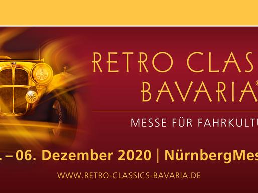 Jetzt schon vormerken! Tolle Fahrzeuge auf der Retro Classics Bavaria auf unserem 250qm Stand.