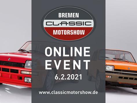 Online-Event der Bremen Classic Classic Motorshow am 6. Feb. 2021