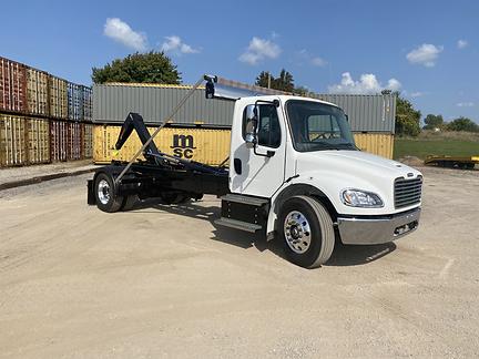 White & Black Custom Built MultiLift HookLift Truck | Quality Truck Fab | Clare, MI 48617
