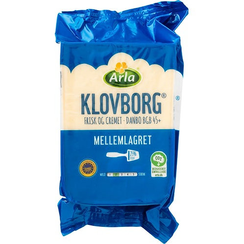 Klovborg ost ml.lagret +45