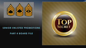 Part 4 Board File How to get promoted to SFC in the Army