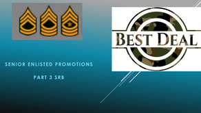 Part 3 SRB How to get promoted to SFC in the Army