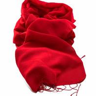 Nepalese Pashmina Scarf - Red