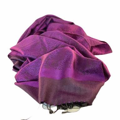 Nepalese Pashmina Scarf - Purple Paisley