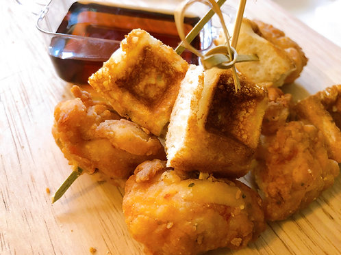 Mini Chicken & Waffle Skewers