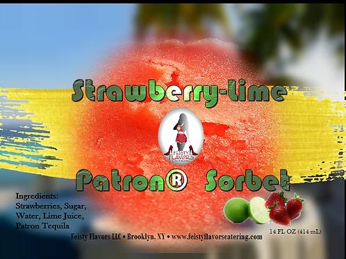 Strawberry-Lime Patron® Sorbet