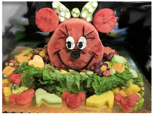 Minnie Mouse Fruit Carving