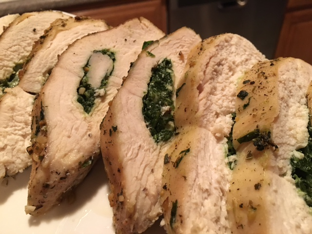 SPINACH & GOUDA STUFFED CHICKEN