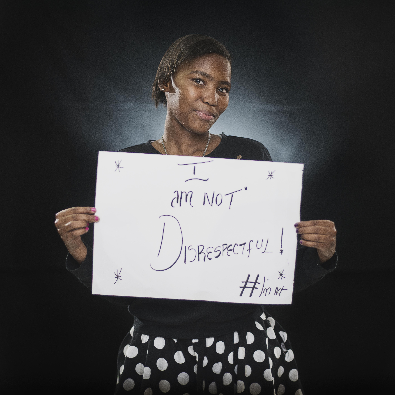 #Imnot disrespectful