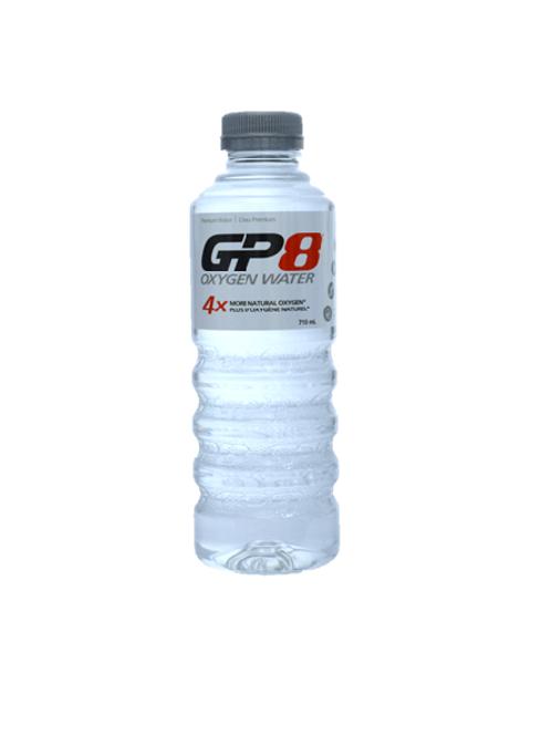 GP8 Oxygen Water 710ml Flat Cap x 12