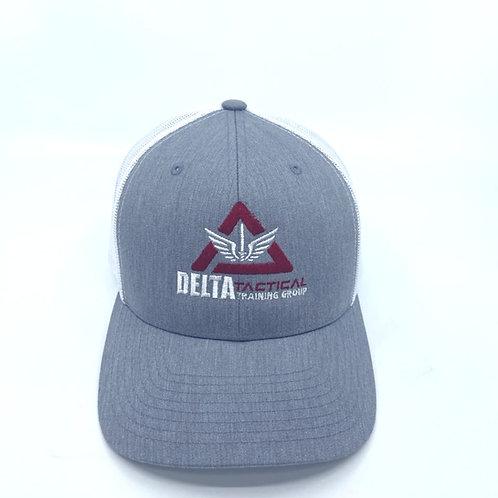 Delta Tactical Heather/White Trucker Cap with Logo