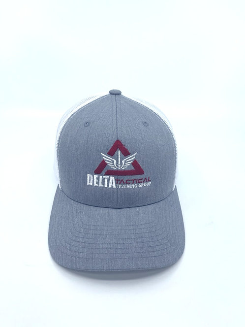 Delta Tactical Heather/White Trucker Cap with Logo - NEW