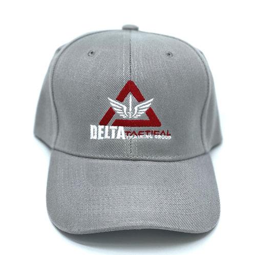 Delta Tactical Lt. Gray Ballcap with Logo - NEW