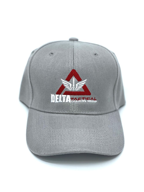 Delta Tactical Lt. Gray Ballcap with Logo - NEW