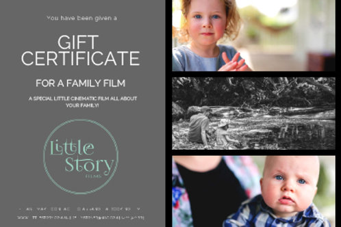 Gift Certificate Family Film