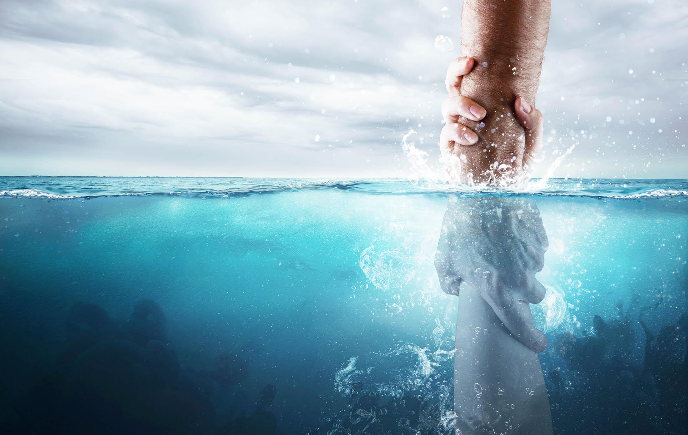 GN Banner home submergir Jesus salva