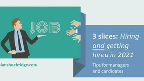 3 slides for success: Tips for hiring and getting hired in 2021