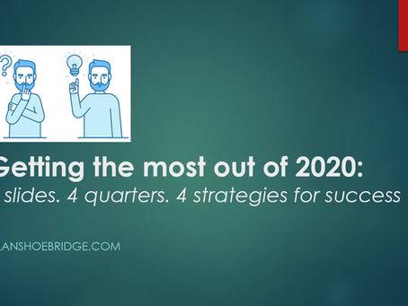 Four minutes. Four slides. Four strategies for success