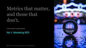 Metrics that matter, and those that don't: No.1: Marketing ROI