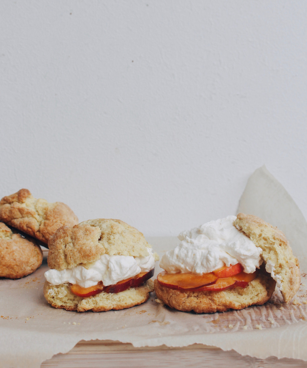 Bourbon Peach Shortcakes