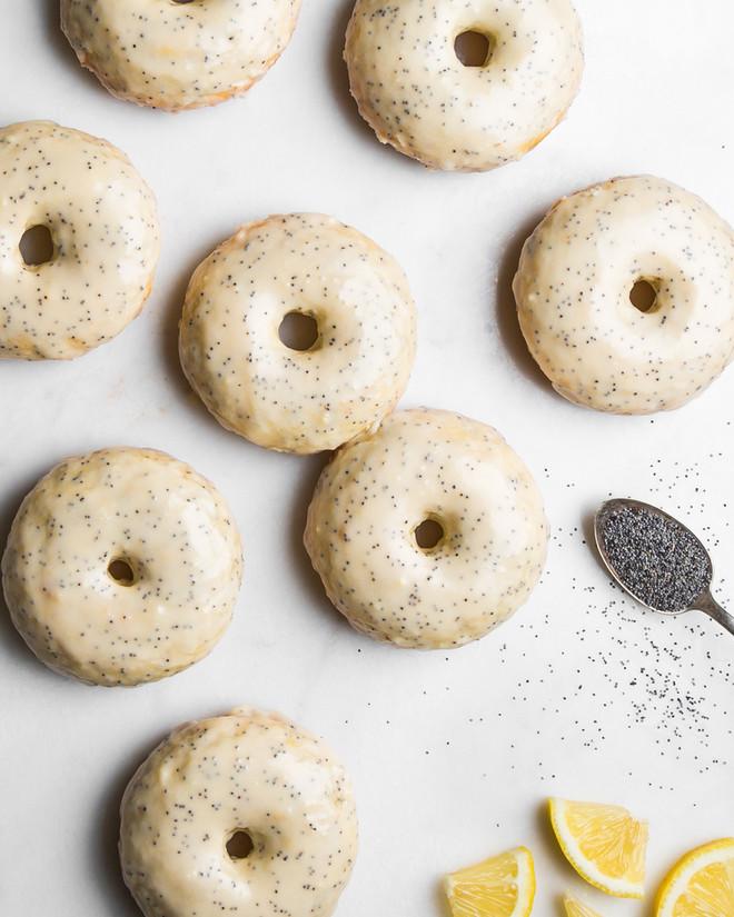 Lemon Poppy Seed Doughnuts