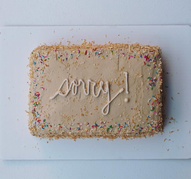 Caramel Coconut Sheet Layer Cake