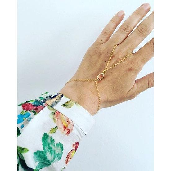 Peach hand chain