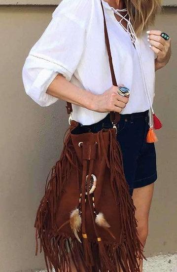 Scarlett Dreamcatcher - Bucket Fringe Bag