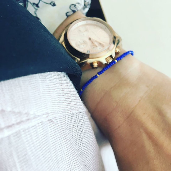 Basic blue bracelet