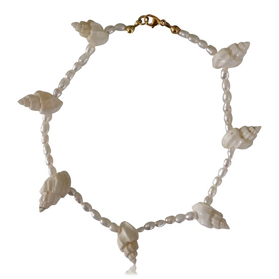 Conch anklet