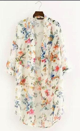 Flower Kimono - apricot