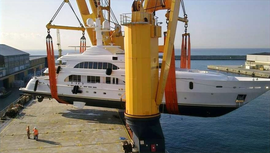 Transporting Yacht