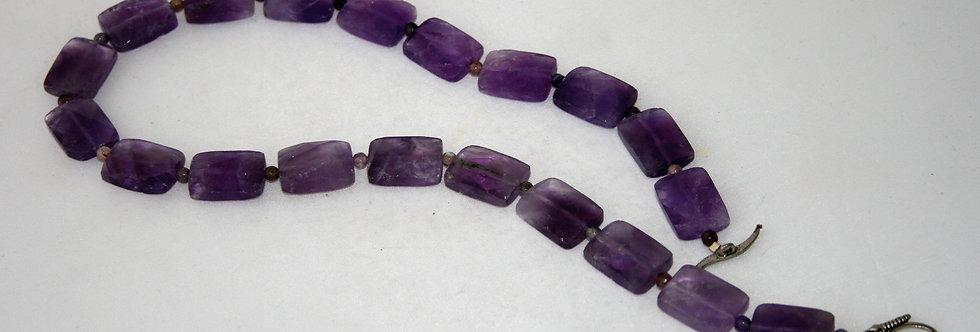 Helen West Amethyst Rectangular Beaded Necklace