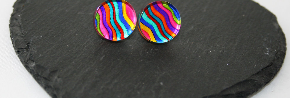 copy of Rowena Park Acrylic Wavy Ripples Large Stud Earrings