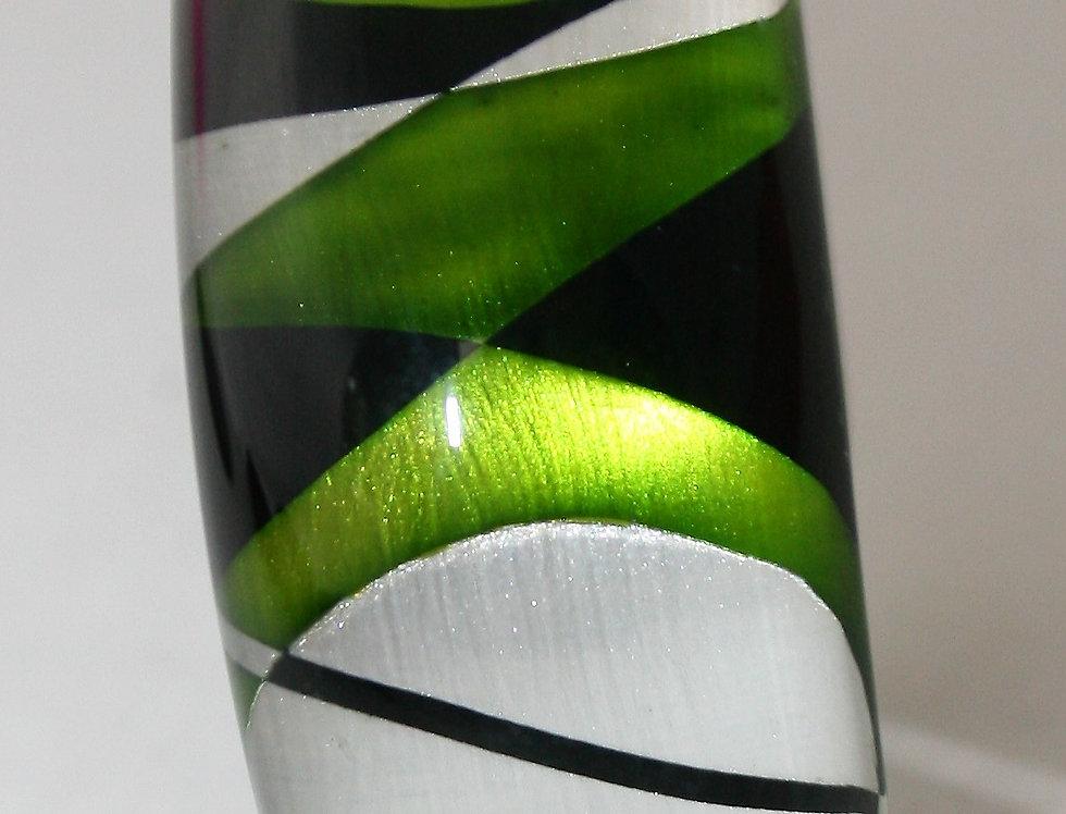 Rowena Park Acrylic Green Deco Bangle