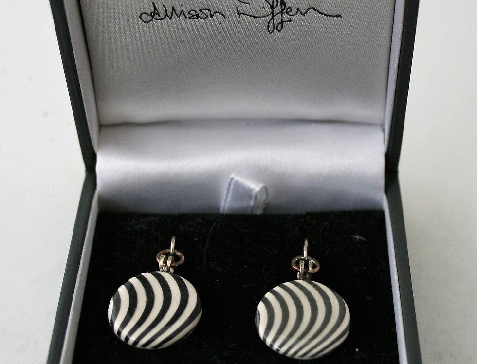 Alison Wiffen Ceramic Wavy Lines Earrings