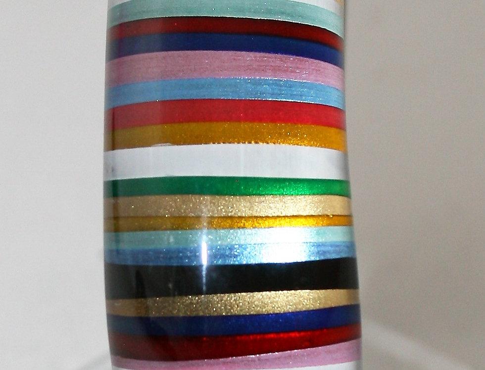 Rowena Park Acrylic Pastel and Gold Candy stripe Bangle