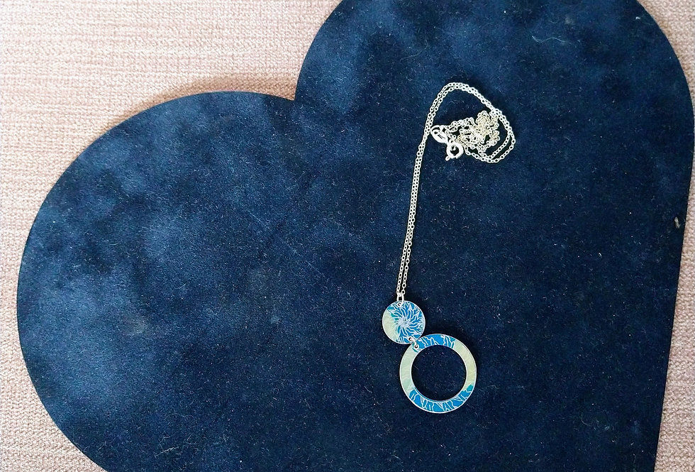 Botanicol- Coloured Aluminium Blue Necklace