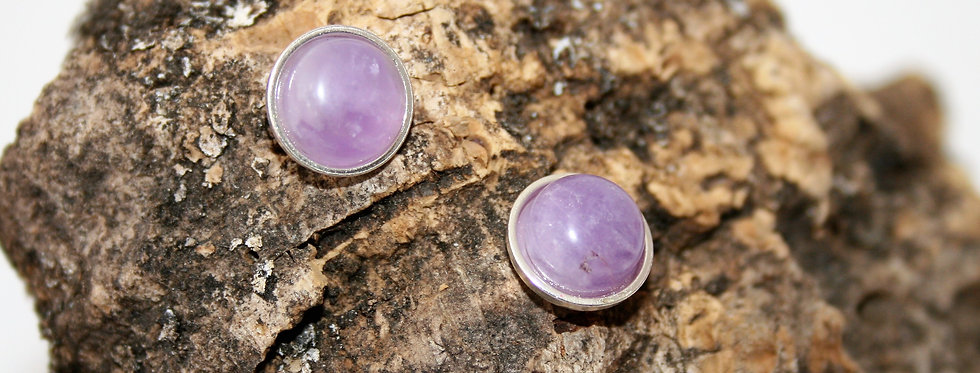Helen West Lavender Amethyst and Silver Studs
